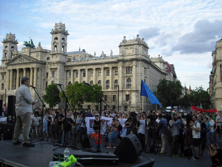 Hungary – Serbia wall protest 03