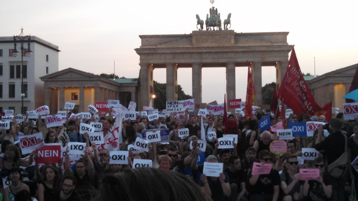 People of Berlin send a loud OXI to Athens