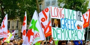 Avec les grecs pour une Europe sociale et démocratique