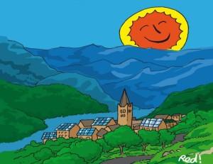 Le village où les habitants gèrent eux-mêmes l'énergie du soleil