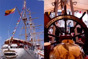 An Bord des Segelschulschiffs Guayas wurde der Nationalfeiertag Ecuadors gefeiert