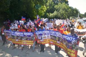 Haitian Diaspora Marched Against Expulsion of Dominico-Haitians