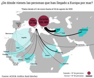 Qué pasa en los países de donde salen las personas que llegan a Europa