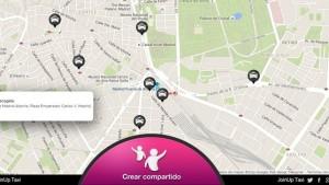 La aplicación del taxi compartido