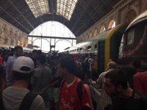Stranded at Budapest's train station
