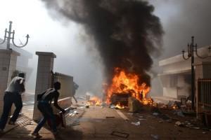 Barricate in Burkina Faso
