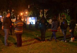 Conmemoración del golpe militar en un barrio de Santiago de Chile