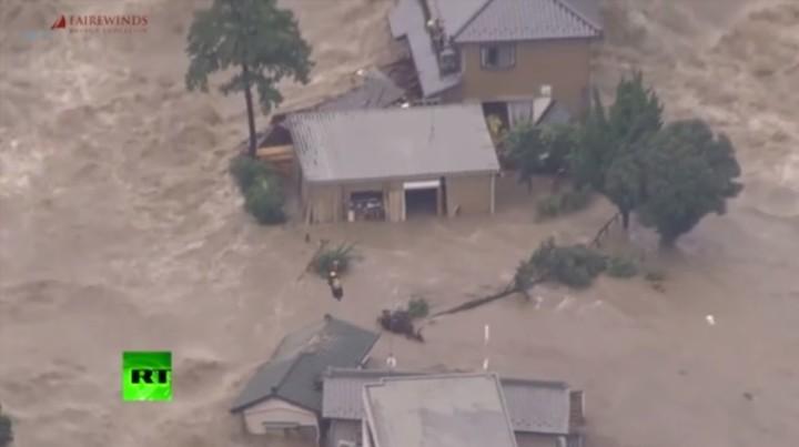 Radioactive floods recontaminate Japan