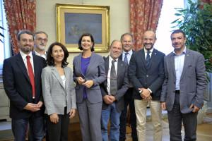 """La campagna """"Un'altra difesa è possibile"""" ricevuta dalla Presidente della Camera Laura Boldrini"""