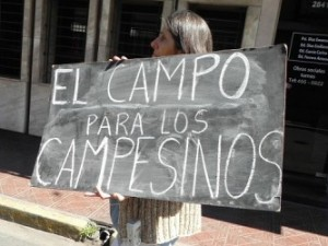 Se frenó el desalojo a 60 familias rurales en El Palmar
