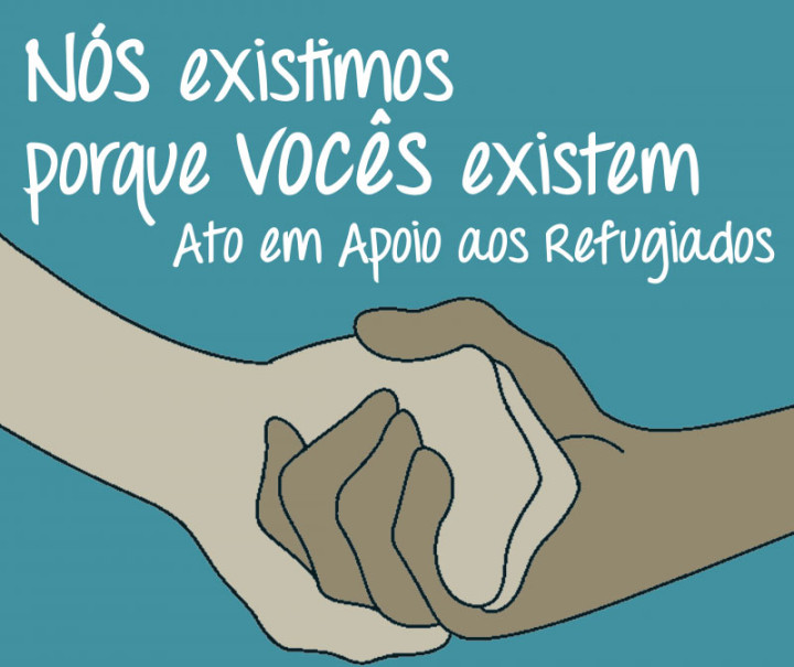 Ato em solidariedade a crise dos refugiados