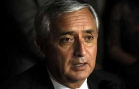 Ordenan arresto de presidente de Guatemala sindicado por corrupción