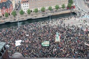 Demonstrationen für Flüchtlinge in ganz Europa