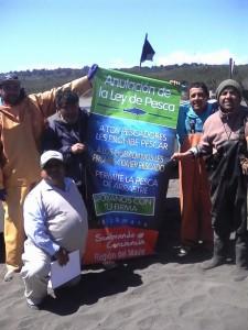 Apoyamos a los pescadores artesanales en su campaña de anulación de la ley de pesca