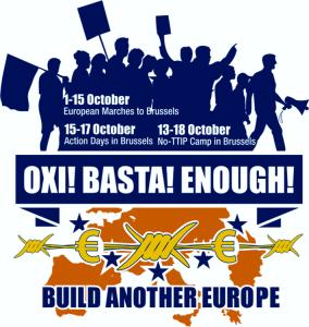 Protest gegen Austerität und Flüchtlingspolitik in Brüssel