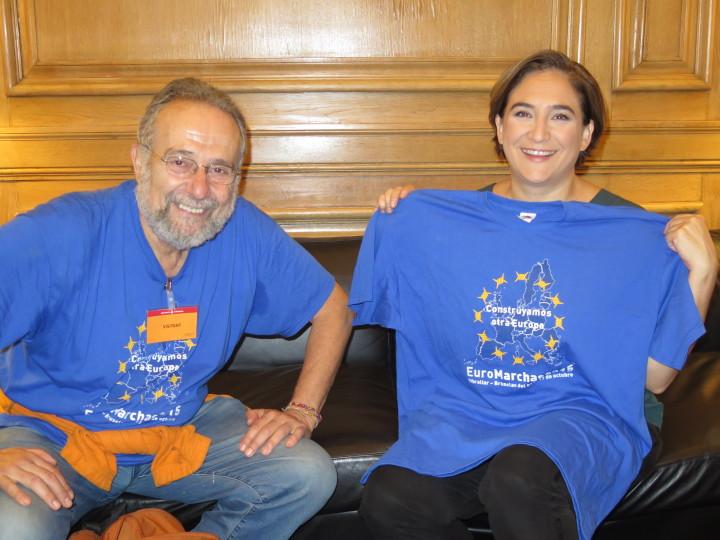 Ada Colau esprime il suo appoggio alle Euromarce