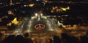 500 torches mark the International day of Nonviolence in Budapest