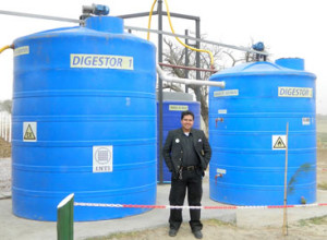 Un biodigestor da gas a la cocina comunitaria de Colonia Jaime