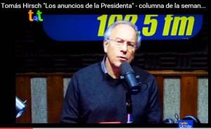 """Hirsch a Bachelet: """"Sra. Presidenta, usted tiene la obligación de firmar la nueva constitución de nuestro país"""""""