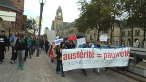 Der Euromarsch kommt in Metz an