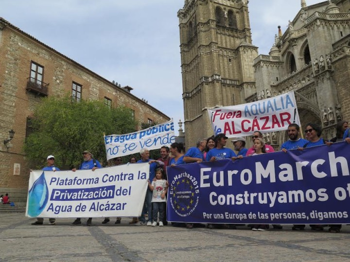 Las EuroMarchas hacen suya la lucha contra la privatización del agua