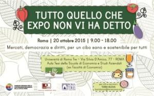 """Roma, 20/10/2015, conferenza """"Tutto quello che EXPO non vi ha detto"""""""