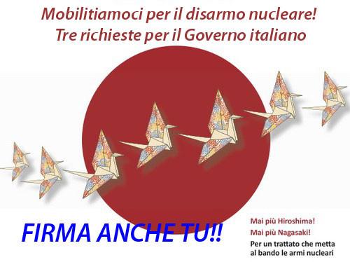 Continua la mobilitazione per il disarmo nucleare