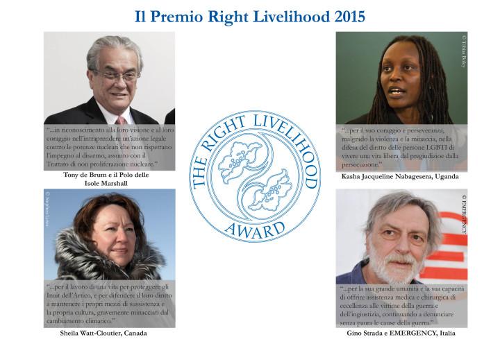 Les «Prix Nobels alternatifs » 2015