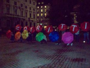 Flash mob per i diritti Lgbt a Milano
