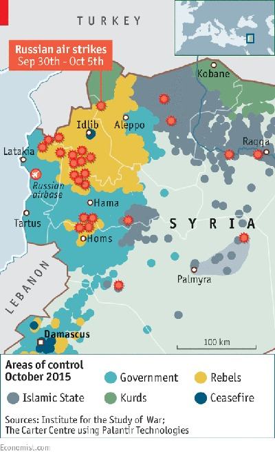 La conexión entre la propaganda rusa y la norteamericana en Siria