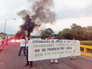 Con tomas de carreteras población indignada sigue lucha contra corrupción e impunidad en Honduras