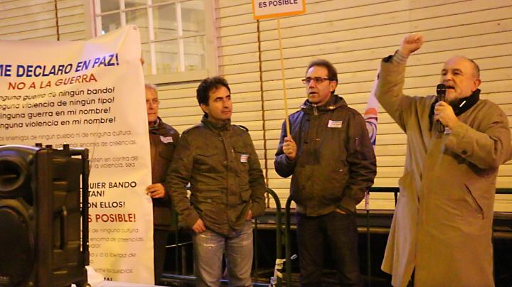 Concentración en Madrid: ¡Me declaro en paz! ¡No a la guerra, No en mi nombre!