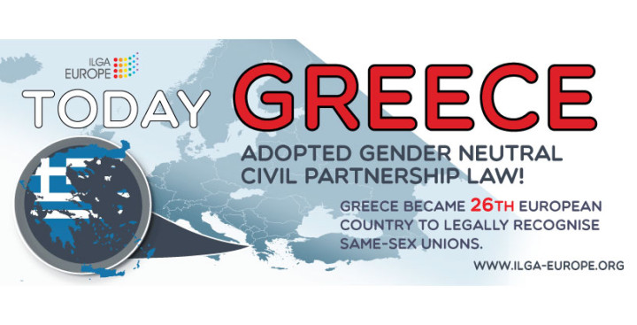 Greece becomes 26th European country to recognise same-sex partnerships