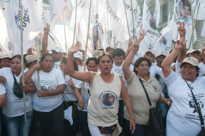 MilagroSala: «Nous sommes venus remercier Cristina de nous avoir conféré la dignité»