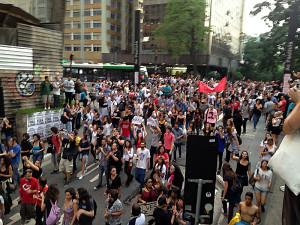 São Paulo, manifestazione di appoggio agli studenti