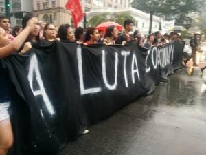 Crônica de uma manifestação estudantil assediada pela Tropa de Choque da Polícia Militar