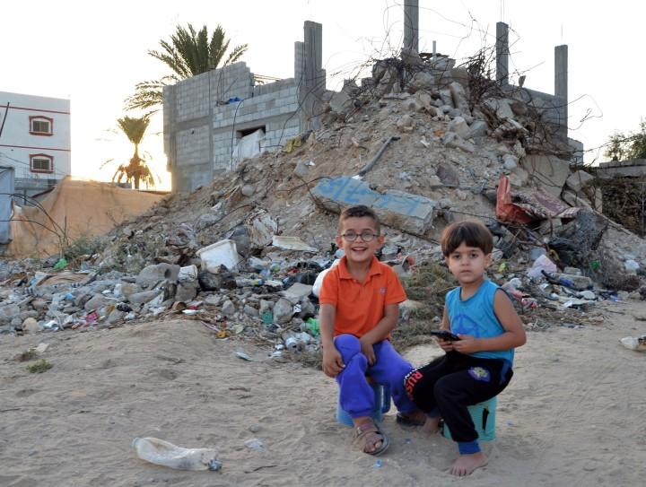 Fiori tra le macerie di Gaza