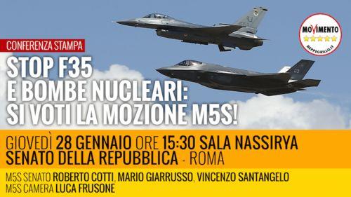 No a bombe nucleari e F35: insabbiata al Senato la mozione Cotti