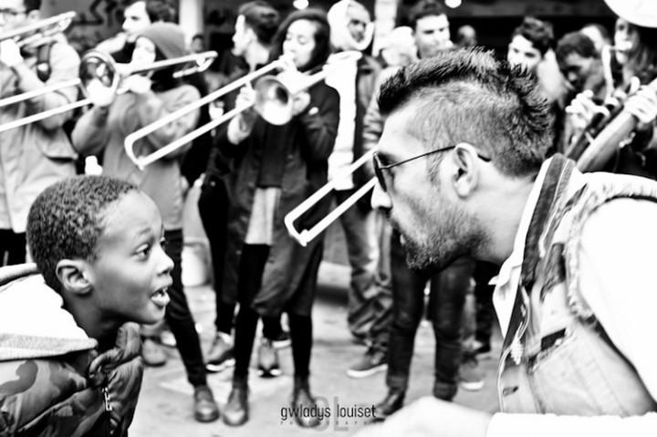 Disco soupe pour et avec les réfugiés du 19ème arrondissement à Paris