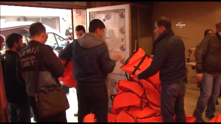 Over 1,000 Fake Life Jackets Found in Raid on Turkish Workshop Staffed with Syrian Children