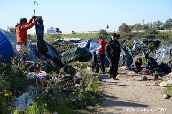 MSF continue de répondre aux besoins des réfugiés de Calais