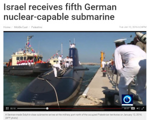 Israel receives fifth German nuclear-capable submarine