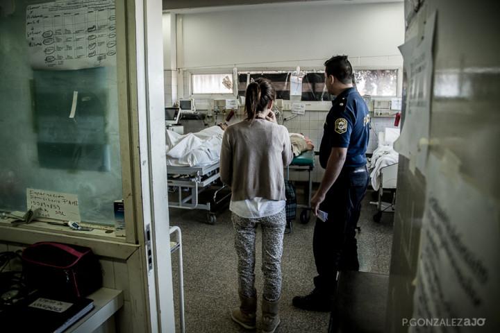 En la guardia se atiende a las personas privadas de libertad derivadas del complejo penitenciario de Batán.