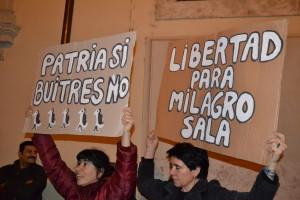 Visita Macri a Roma: protesta per la libertà di Milagro Sala e dell'Argentina