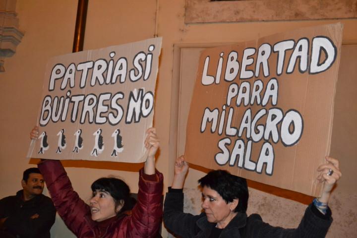 Visita de Macri a Roma: protesta por la libertad de Milagro Sala y de Argentina