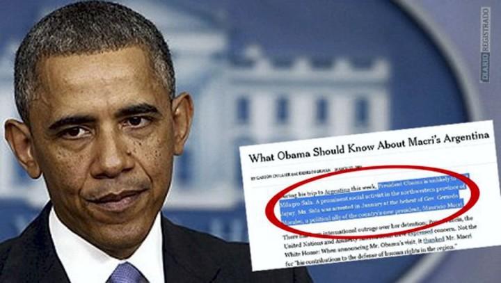 Die New York Times, Milagro Sala, Obama und Macri