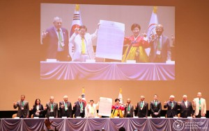 Proclamation ceremony of Declaration of Peace and Cessation of War