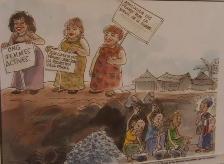 Kayene, caricaturista Le Soverain, 2015