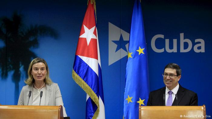 UE e Cuba assinam acordo para restabelecer laços