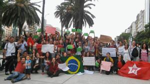 """Brasil se mueve en Argentina: """"Nos une el NO al golpe"""""""